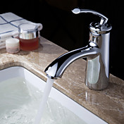 Sprinkle® by Lightinthebox - Solid Brass Contemporary Bathroom Sink Faucet (Chrome Finish)