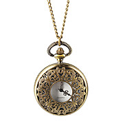 Classic Alloy Round Necklace Watch
