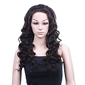 Mono Top With Stretch Lace At Back Indian Remy Hair 22 Inch Fashion Body Curly Fully Hand-tied Wigs