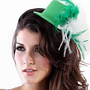 Unique Green Nylon With Feather Women's Fascinators