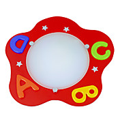 Modern Red Flush Mount Light with Colorful Letters