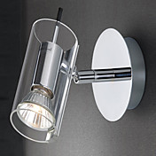50W Contemporary Stainless Steel Wall Light with 1 Lights in GU10 Bulb Base
