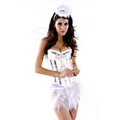 Sexy Women Angel Corset Halloween Costume(5 Pieces)