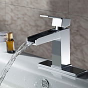 Sprinkle® by Lightinthebox - Solid Brass Contemporary Waterfall Bathroom Sink Faucet (Chrome Finish)
