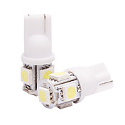 T10 Car Light in einem Paar (5050, 2W, Lumen (LM) 60, BZ6 Farbtemperatur 6000-6500K, 12V, mit 5 LEDs, White Light)
