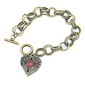 Fashion Alloy With Hearth Shaped Acrylic Women's Bracelet