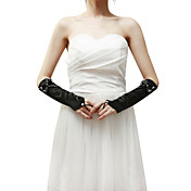 Spandex Fingerless Elbow Lengde Ladies 'Hansker med Rhinestone