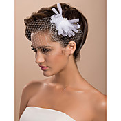 15cm x 8cm Gorgeous Tulle Wedding Bridal White Flower/ Corsage/ Headpiece