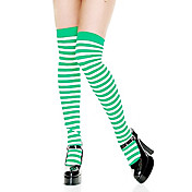 Fancy Striped Green and White Christmas Stockings(1 Pieces)