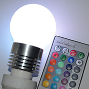 E27 5W Color Changing LED Ball Bulb with Remote Control (110-240V)