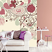 Colorful Floral Contemporary Graphics Nature Mural