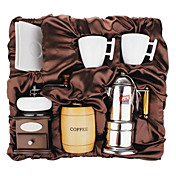 Coffee Series Boxed Gift (Moka & Siphon Pot, Grinder, Cups) T-009