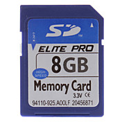 8 GB Hi-Speed ​​Elite Pro Tarjeta de memoria SD
