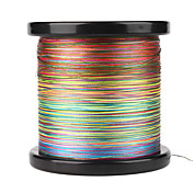 4 Carriers 100% PE Braided Fishing Line 300M/600M/1200M (Rainbow)