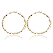 Pretty Alloy Round Hoop Earrings