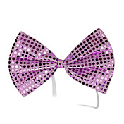 Purple Sequins Bow Halloween Cravat(1 piece)