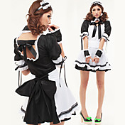 Sexy Cool Girl Black and White Polyester Maid Suit(2 pieces)