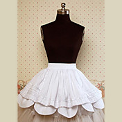 Knee-length White Cotton Sweet Lolita Skirt