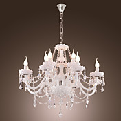 White Crystal Chandelier with 12 Lights