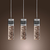 Artistic Pendant Light with 3 Lights - Cylinder Shade