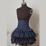 Knie-lengte Donker Marine Cake stijl Sailor Lolita rok