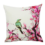 Country Bird Velvet Decorative Pillow Cover