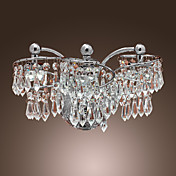 Contemporary Crystal  Wall lights with 6 LED Lights Chrome Finished