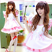 Cute Girl Polyester Ruffle og Ribbon Maid Suit