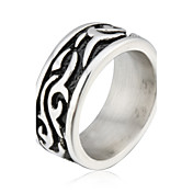 Unique Stainless with Religious Pattern Steel Ring