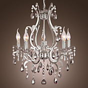 Lmpara Chandelier de Cristal con 5 Bombillas - LENOIR