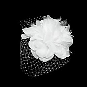 Lovely Net With Satin Flower Women's Fascinators