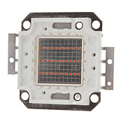 DIY 20W 800-1000LM Red Light 620-625NM Square Integreret LED-modul (20-22V)
