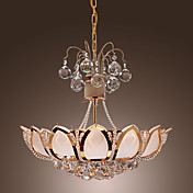 Luxuriant Modern Crystal Pendant Lights with 6 Lights Lotus Featured