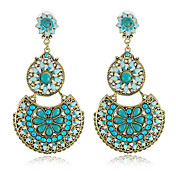 Pretty Alloy with Beads and Crystals Round Chandelier Earrings(More Colors)