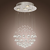 K9 Crystal Chandelier with 4 Lights in Globe Shape