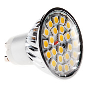GU10 5W 24x5050 SMD 380-420LM 3000-3500K Warm White Light LED Spot Bulb (220-240V)