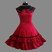 Sleeveless Knee-length Red Cotton Sweet Lolita Dress