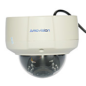 2,0 megapixels IP-domekamera Support ONVIF RoHS (IR 15m ,2.8-12 mm lins)
