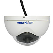 2,0 megapixel dubbel H.264 Stream Dome IP-kamera Support ONVIF RoHS (Two Way Audio)