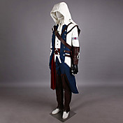 cosplay costume inspiré par l'assassin creed iii connor uniforme assassin (blanc ver.)