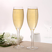 Personalized Mr &amp; Mrs Wedding Toasting Flutes(Set of 2)