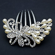 Chic Peafowl Alloy Met Strass / Imitatie Parel Women's Hair Combs