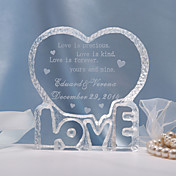 "Personalized ""Love"" Wedding Cake Topper"