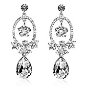 Gorgeous Alloy Crystal Irregular Chandelier Earrings