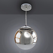 Modern Pendant Light in Metal Globe Feature