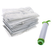6 Vacuum Storage Bags with Pump Extra Value Set