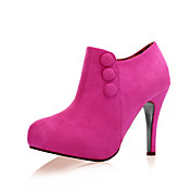 Suede Upper  Stiletto Heel Ankle Boots With Button Party/ Evening Shoes More Colors Available