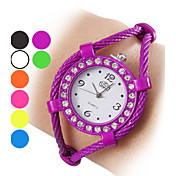 Dame Alloy Analog Quartz Bracelet Watch (Assorterede farver)