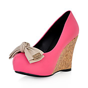 Leatherette Wedge Heel Closed Toe With Bowknot Party / Evening Shoes(More Colors)