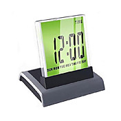 Colorful Light Digital Alarm Clock Calendar Thermometer (3xAAA)